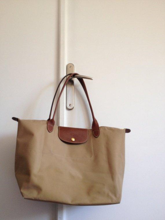 R Longchamp Bleu Noir Sac Grandes sac Cuir Anses Shopping Pliable Lonchamp Orange PxdzqBnx