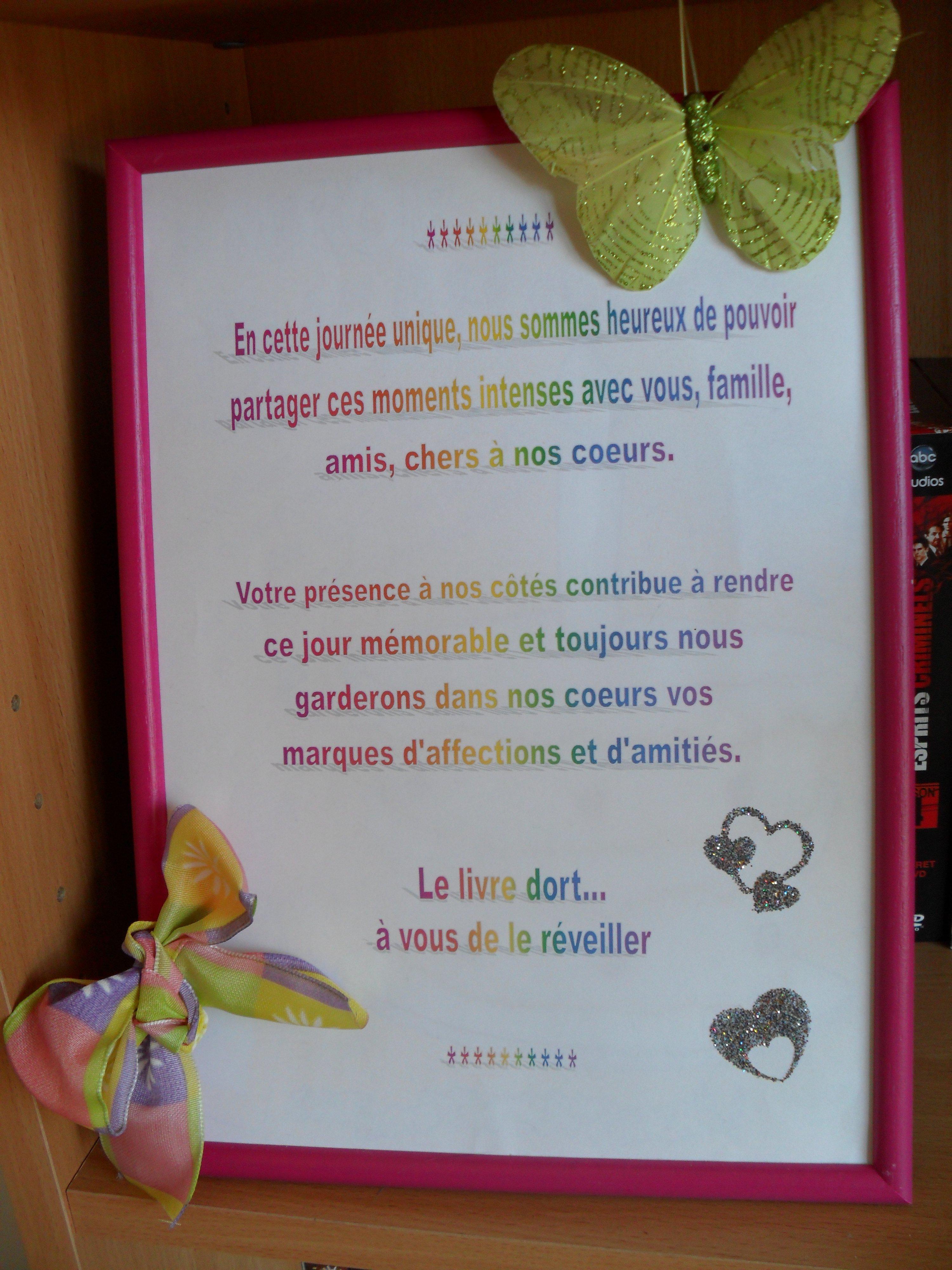 Texte livre d 39 or prepa mariage anettebetton photos - Mot livre d or mariage ...