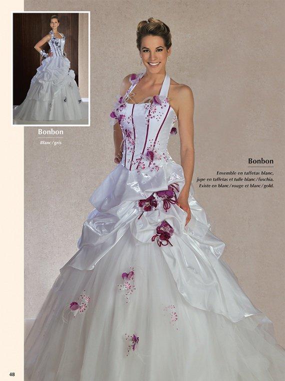 2abe55c7b94 Robe de mariee rouge bordeaux et blanc – Robes de soirée populaires ...