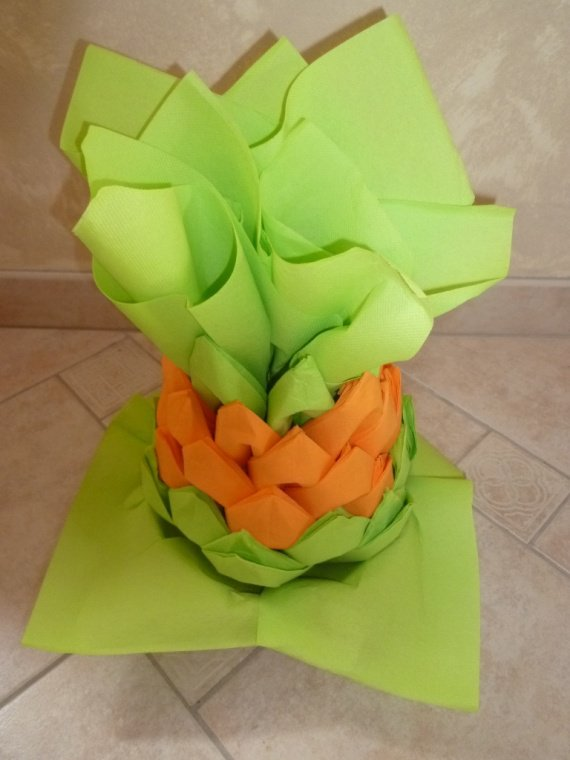 Ananas distributeur de serviettes th me plage mer for Serviette en papier deco