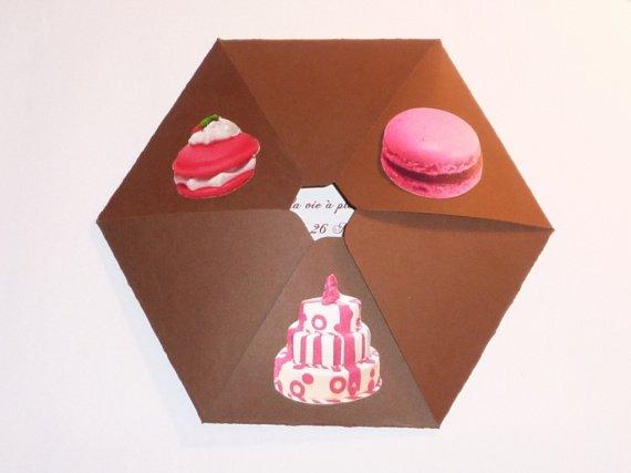faire part hexagonal mini g teaux th me miam. Black Bedroom Furniture Sets. Home Design Ideas