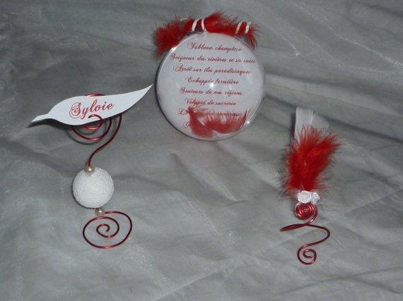 lot d co de table plume amour th me amour romantisme plume la boutik d 39 angelik photos. Black Bedroom Furniture Sets. Home Design Ideas
