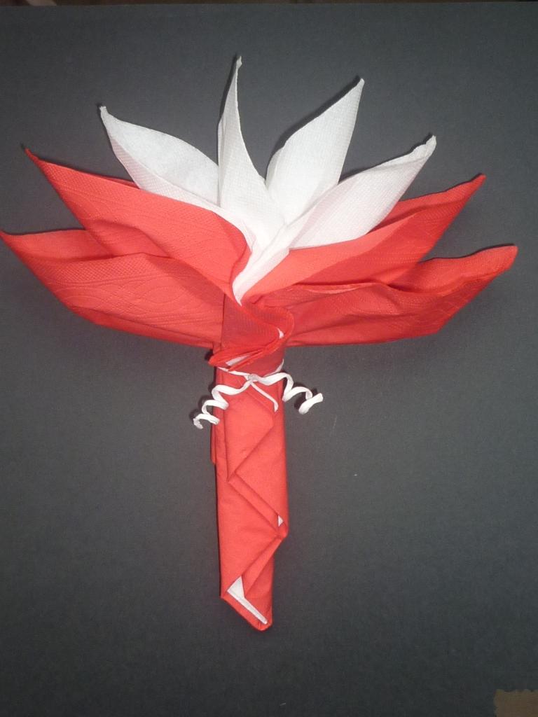 Pliage De Serviette Original serviette pliage fleur - thème ange et plume - la boutik d