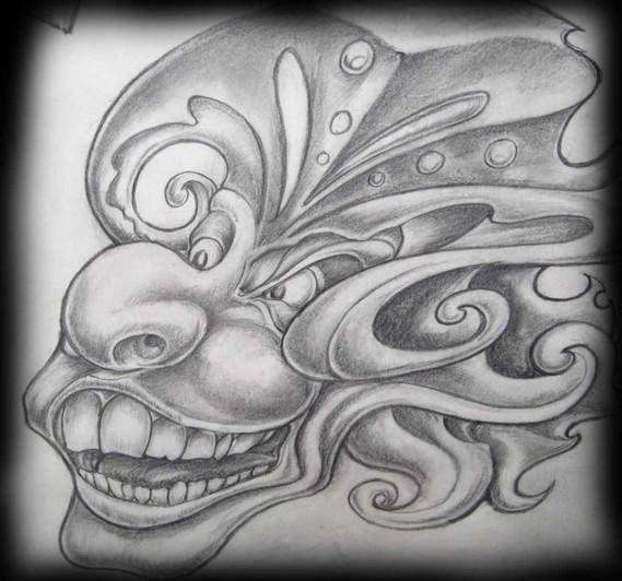 L'ane fou et la folie d'Anna. Il a tout ses dents. Tatouage Calypso Québec ùtattoo Shop