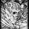 Le lys caché, Liberté d'expression, Mort volante en projection. Crane sculptpé