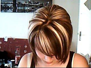 Coiffure couleur chocolat meche blonde coiffures modernes - Coupe courte couleur chocolat ...