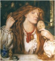 Rossetti_Woman_Combing_Her_Hair_1864