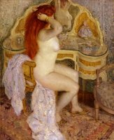 Nude-Seated-at-Her-Dressing-Table-1909-Frederick-Carl-Frieseke