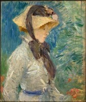 Berthe-Morisot-Young-Woman-with-a-Straw-Hat