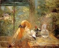 4-On-la-Veranda-Impressionistes-peintres-Berthe-Morisot