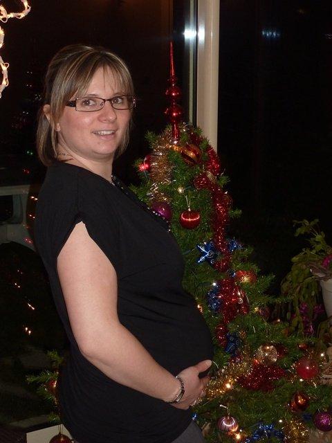 Audrey enceinte BB2 le 24/12//09