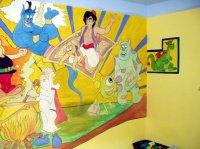 peinture murale chambre enfant