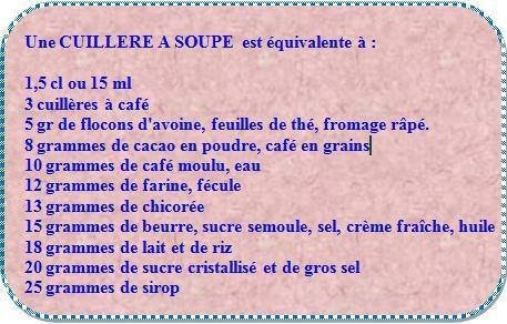 Une cuillère à soupe