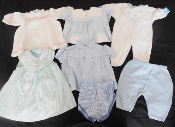 Lot de vêtements bébé vintage - ancien en très bon état 20€