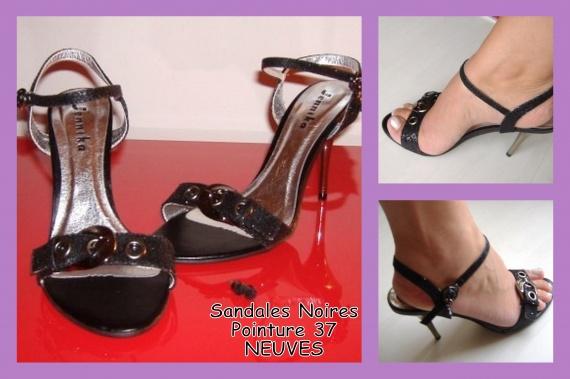 Sandales Noires 38 NEUVES