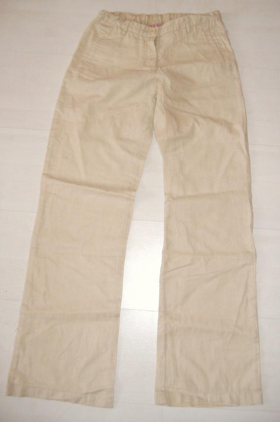 Pantalon CFK beige en lin 12 ans