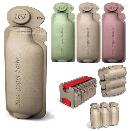 Emballage écologique de bouteilles d'eaux en papier alimentaire recyclable