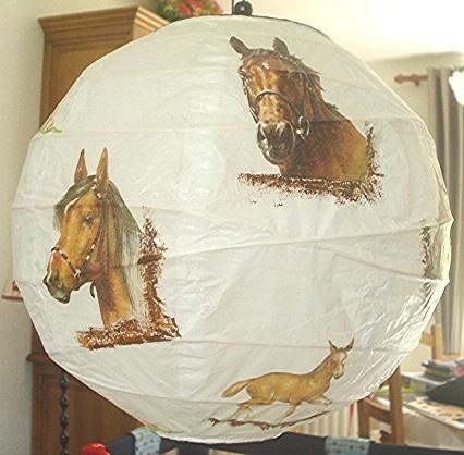 abat jour papier de riz boule chinoise chevaux pour laurie mes cr 233 ations coralie74500