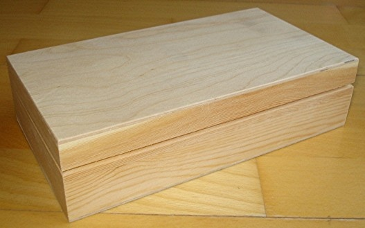 N173 boite bois avec couvercle 22x12x5 3 cms 10 euros for Boite bois a decorer