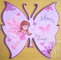 plaque de porte papillon fée