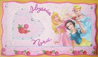 plaque de porte princesses