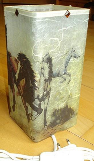 lampe de chevet chevaux autre vue