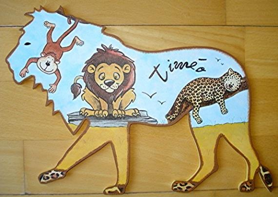 plaque de porte animaux de la savane
