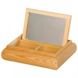 Coiffeuse miroir rectangle 21 x 16,5 x 5,5 cm : 15 euros décorée.
