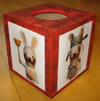 boite à mouchoirs lapins crétins