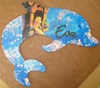 plaque de porte dauphin avec raiponce