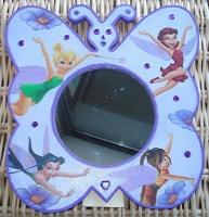miroir papillon fée clochette et ses amies