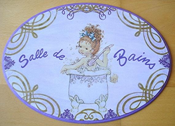Plaque de porte sarah kay pour salle de bains