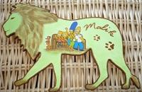Plaque de porte lion les simpson
