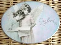 plaque de porte ovale anges