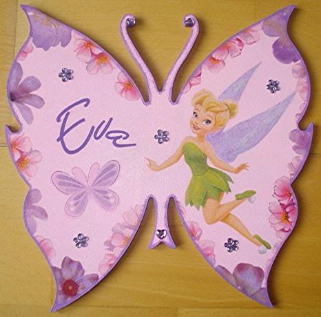 et oui encore une plaque papillon avec fée clochette