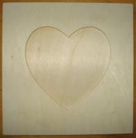cadre photo carré 20X20 cms coeur : 10 euros décoré