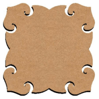 plaque de porte baroque en bois 26 cm : 10 euros décorée 4 dispos