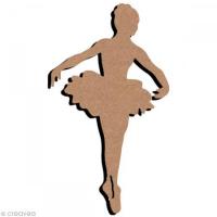 plaque de porte Danseuse Tutu en bois - 17 x 30,5 cm : 10 euros décorée 2 dispos