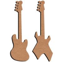 Guitares électriques en bois 30 cm à rajouter à une créa 2 lots dispos