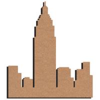 plaque de porte Manhattan en bois 30 cm : 10 euros décorée 2 dispos