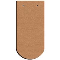 plaque de porte Tuile en bois 38 cm : 9 euros décorée 1 dispo