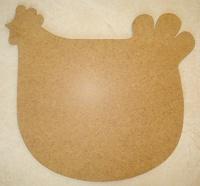 plaque de porte poule en bois médium 28 X 29 cms environ : 10 euros décorée 1 dispo