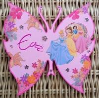 plaque de porte papillon princesses disney