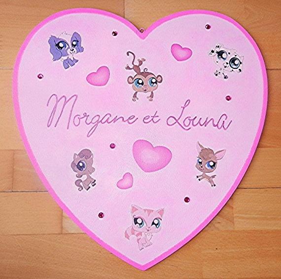 grand coeur plaque de porte pet shop