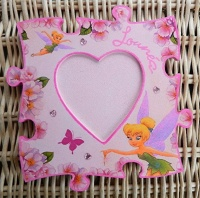 cadre puzzle coeur fée clochette