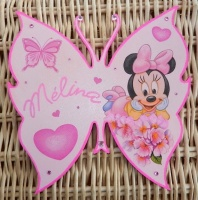 plaque de porte papillon minnie baby