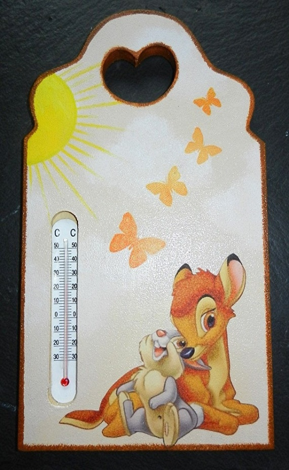 Planche thermométre bambi et panpan