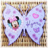 plaque de porte papillon minnie