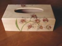 boite à mouchoirs orchidées