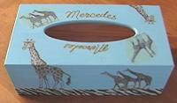 boite à mouchoirs turquoise girafes pour mercedes